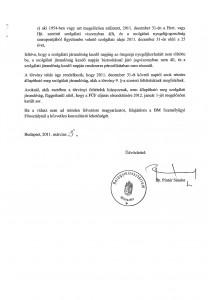 Belügyminiszteri tájékoztató levél 2. oldal