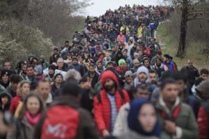 migránstömeg